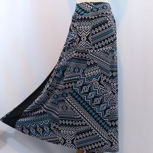 New Directions Printed Jersey Maxi Skirt